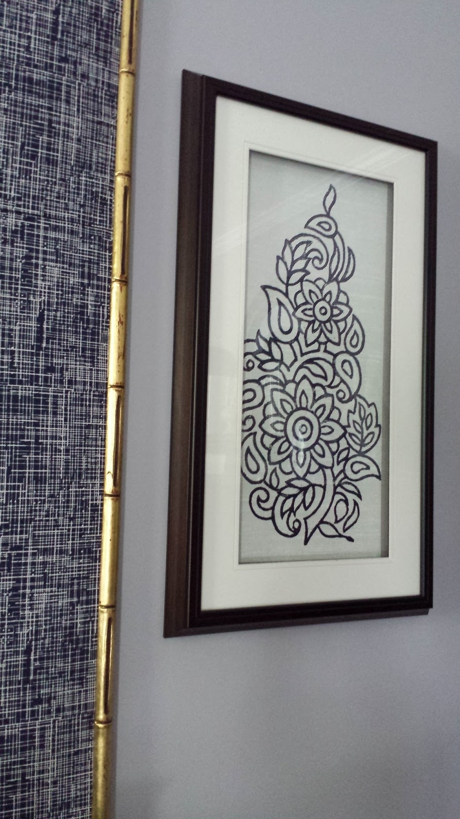 Focal Point Styling: Diy Indigo Wall Art With Framed Fabric With Latest Cheap Framed Wall Art (View 13 of 15)