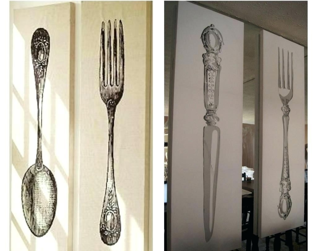 Fork And Spoon Wall Art Regarding 2017 Inspiring Inspirations Of Giant Fork And Spoon Wall Art Image For (View 15 of 15)
