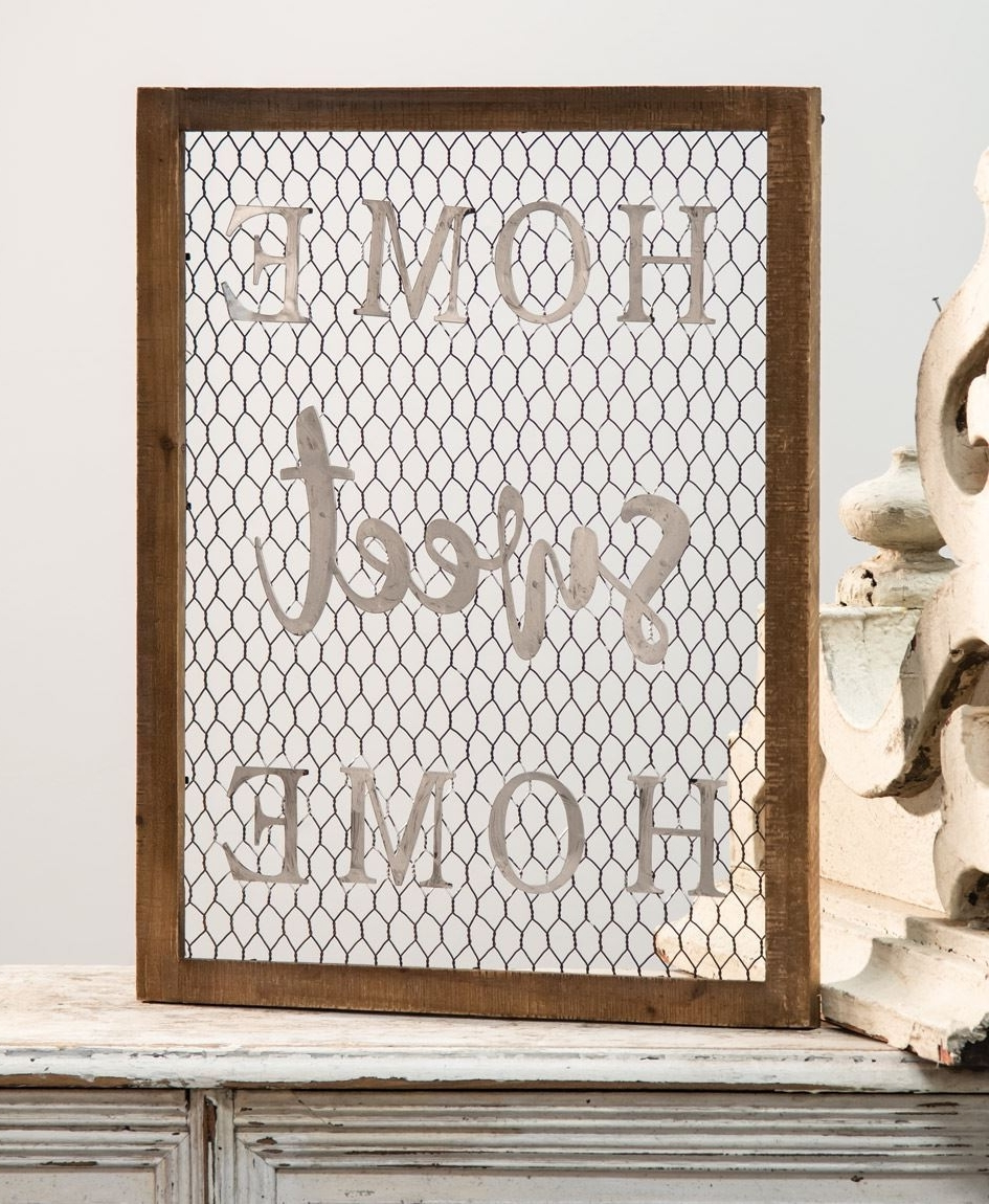 Framed Chicken Wire Wall Art – Home Pertaining To Wire Wall Art (View 6 of 15)
