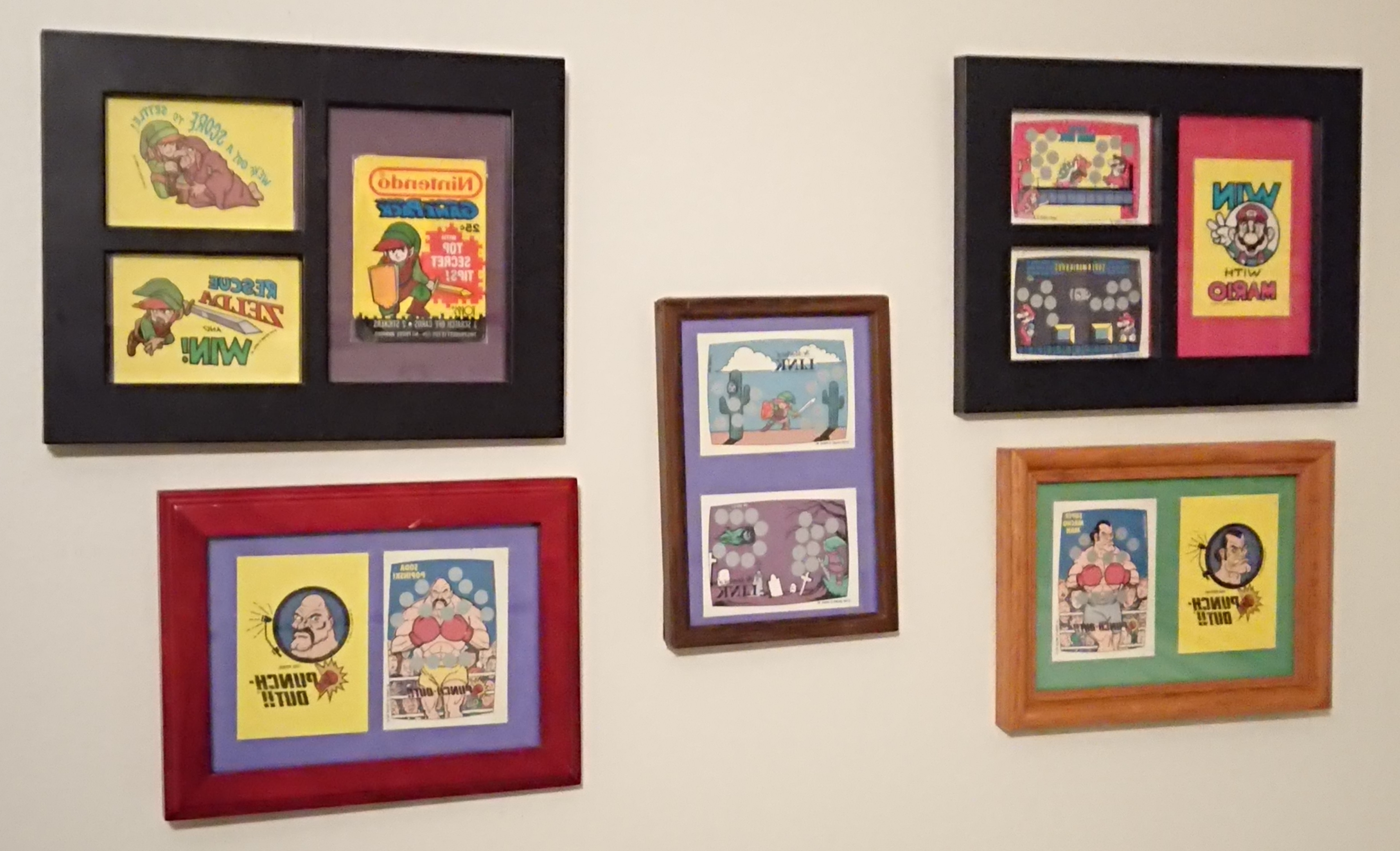 Framed Nintendo Topps Cards Vintage Art On Etsy – Album On Imgur Regarding Best And Newest Nintendo Wall Art (View 11 of 15)