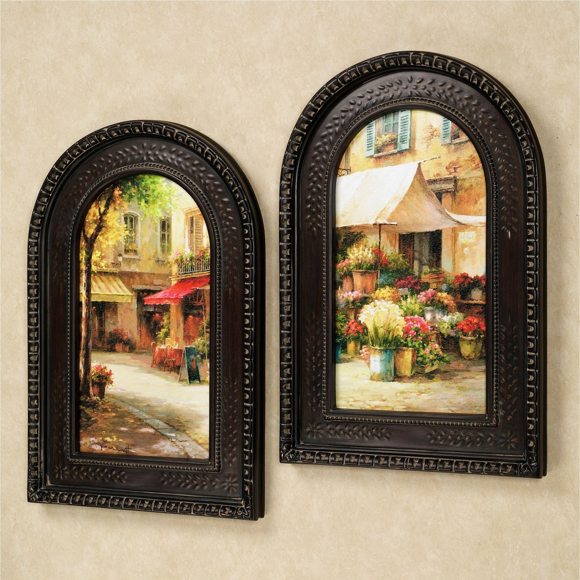 Framed Wall Art Within Well Known The Flower Market Arched Framed Wall Art Set (View 15 of 15)