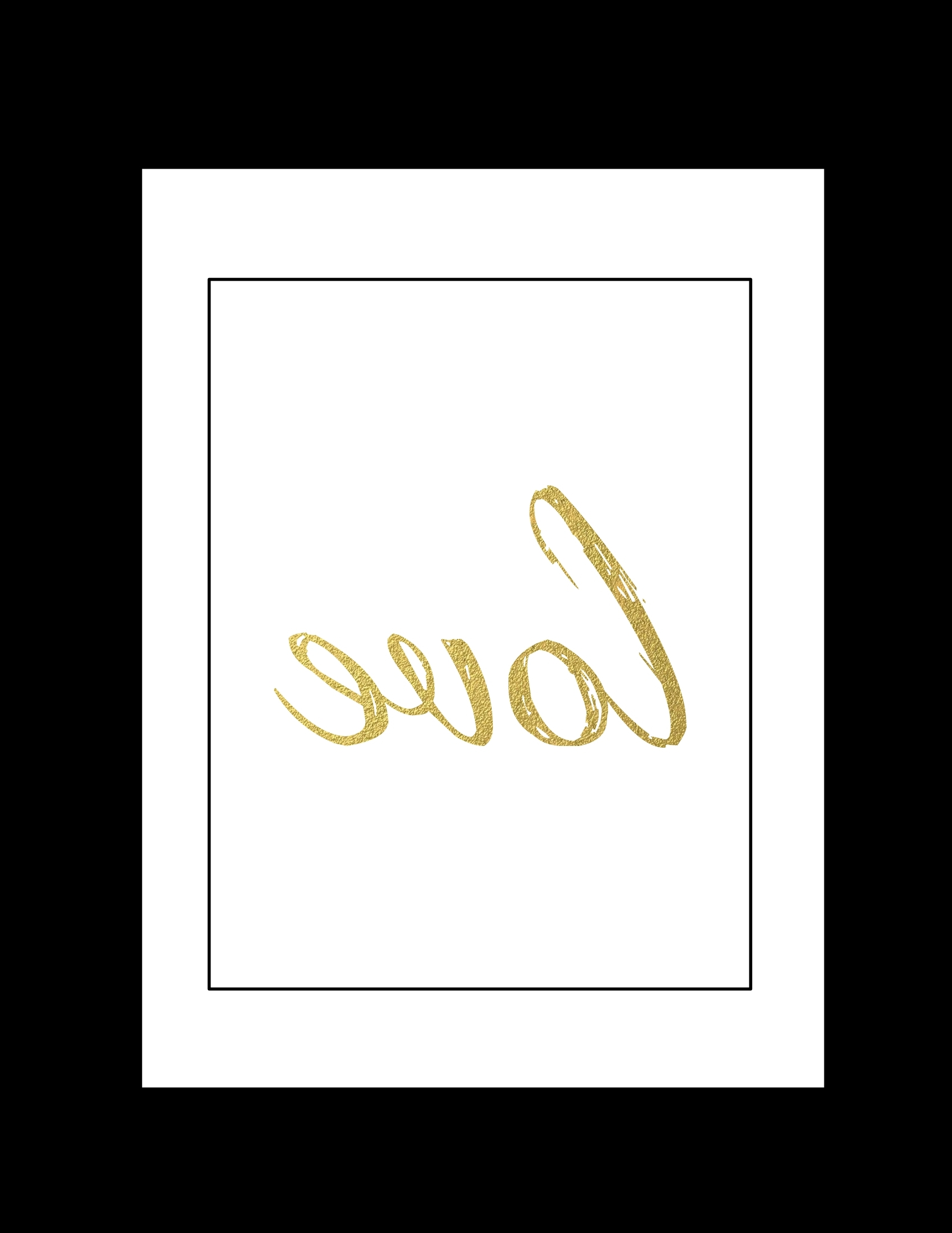 Free Printable Wall Art: Black And Gold Love – Paper Trail Design Intended For Popular Black And Gold Wall Art (View 13 of 15)
