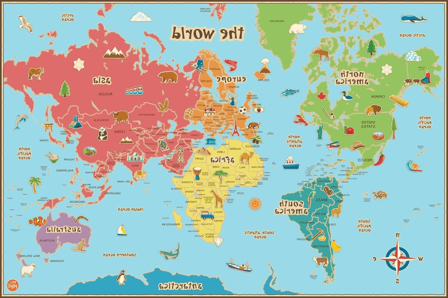 Free Printable World Map For Kids Maps And (View 7 of 15)