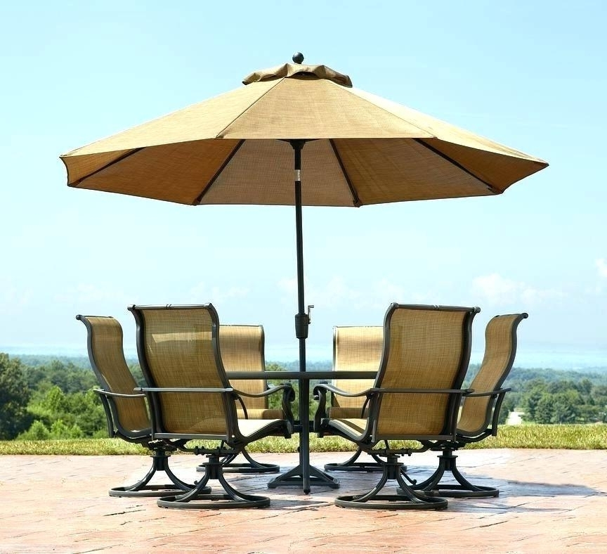 Free Standing Umbrellas For Patio For Well Liked Patio Table Umbrella Set With Lowes Umbrellas Furniture (View 8 of 15)