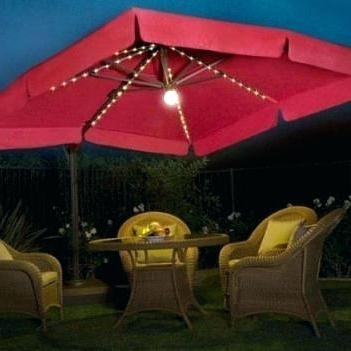 Fresh Led Umbrella Patio And Replacement Canopy For Led Offset Solar With Regard To 2018 Hampton Bay Offset Patio Umbrellas (View 8 of 15)