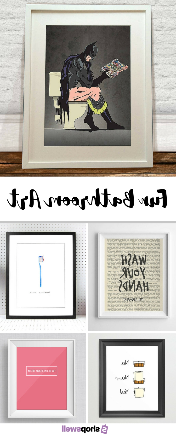 Fun Prints, Walls Within Wall Art For Bathroom (View 6 of 15)