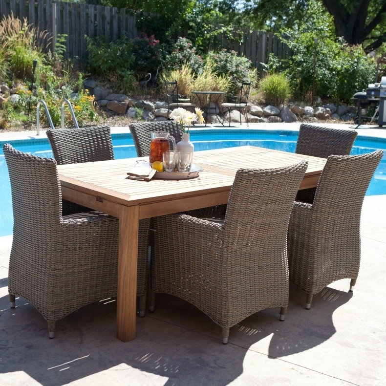 Furniture: Patio Furniture Clearance Costco With Wood And Metal Pertaining To Best And Newest Sunbrella Patio Umbrellas At Costco (View 8 of 15)