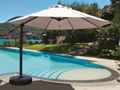 Galtech Quick Ship Cantilever 11 Foot Aluminum Offset Umbrella (Gallery 4 of 15)