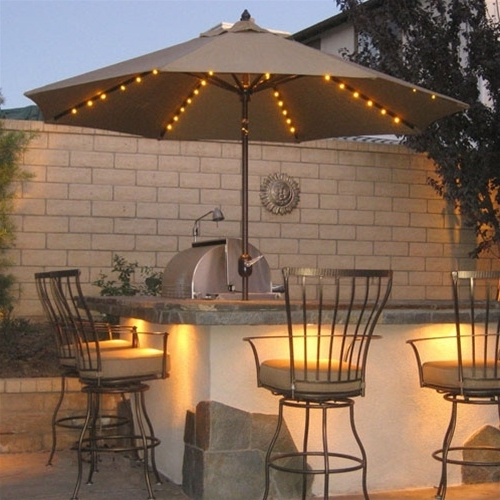 Galtech Umbrellas Offset Patio Umbrella Regarding Popular Patio Umbrellas With Lights (View 5 of 15)