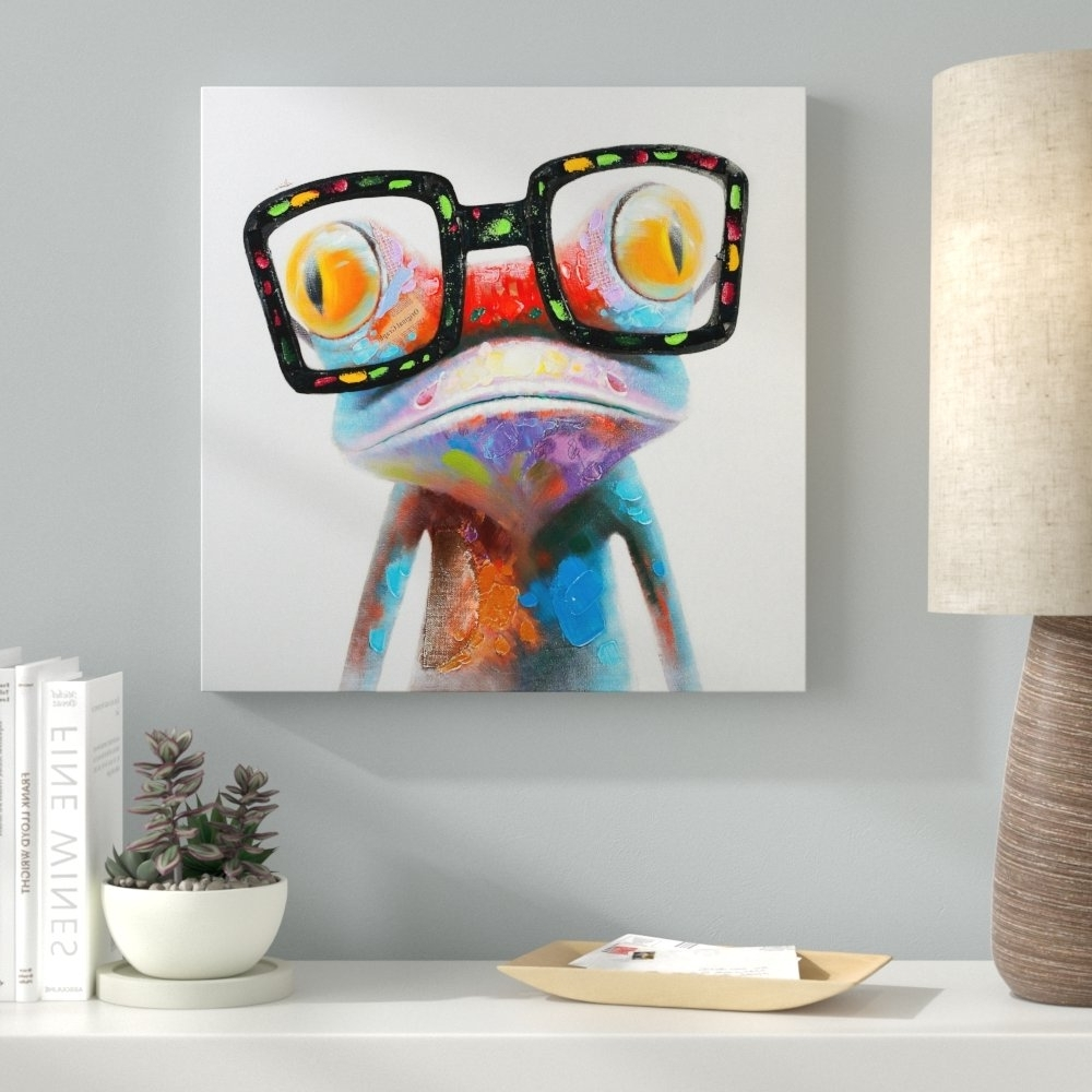 Gecko Canvas Wall Art Throughout 2018 Ebern Designs 'amazing Gecko' Painting On Canvas & Reviews (View 4 of 15)