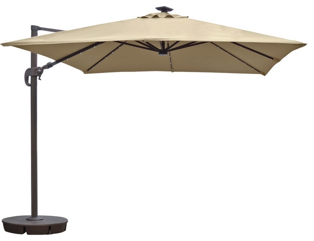 Gemma Cantilever Umbrella, 10' – Contemporary – Outdoor Umbrellas Within Well Known Square Sunbrella Patio Umbrellas (Gallery 1 of 15)