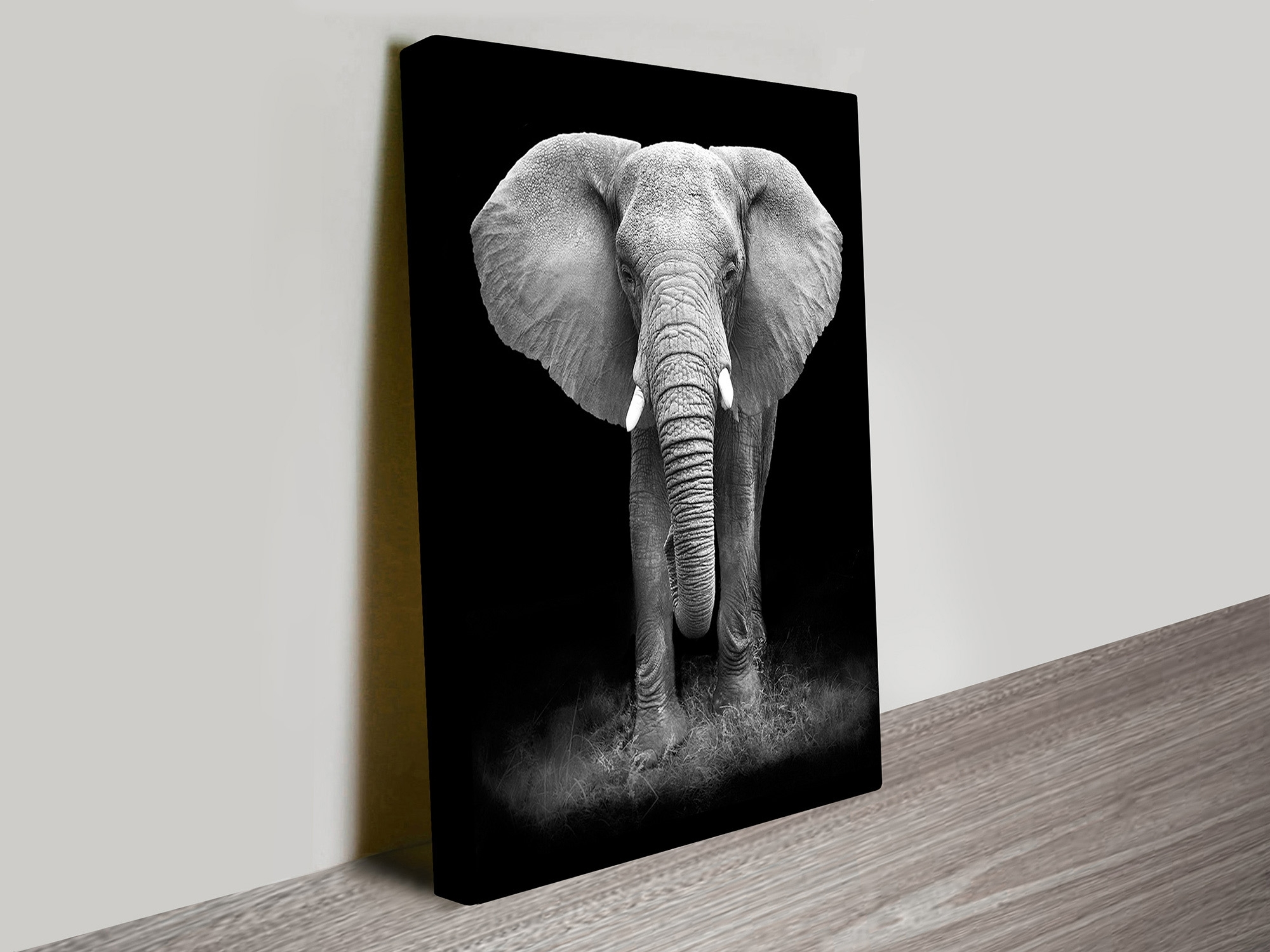Gentle Giant Elephant Canvas Wall Art – Blue Horizon Prints Inside Current Elephant Canvas Wall Art (View 10 of 15)