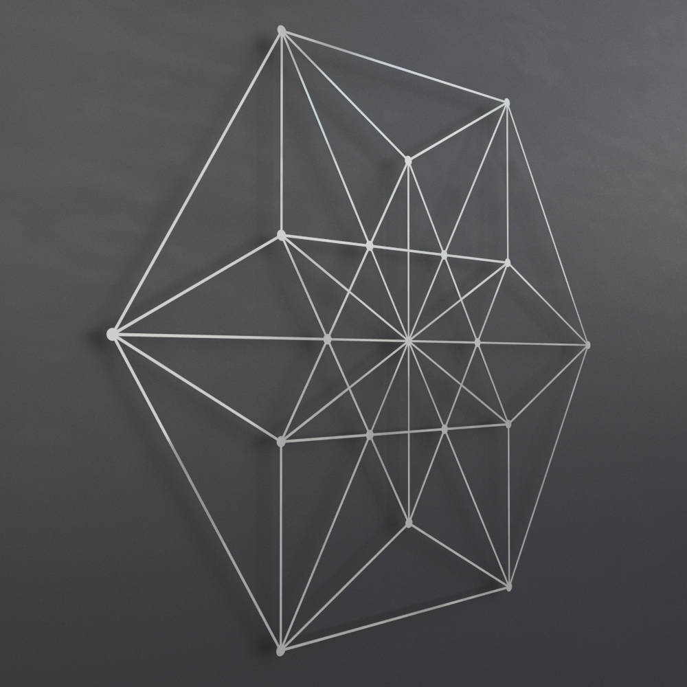 Geometric Metal Wall Art In Preferred Vector Equilibrium Metal Wall Art Sculpture, Sacred Geometry Wall (View 5 of 15)