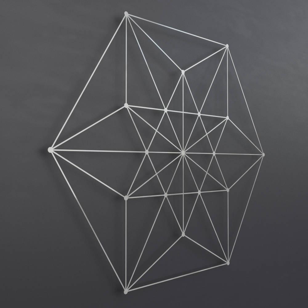 Geometric Metal Wall Art In Preferred Vector Equilibrium Metal Wall Art Sculpture, Sacred Geometry Wall (View 2 of 15)
