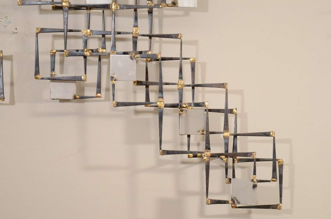 Geometric Metal Wall Art Intended For Most Recent Geometric Metal Wall Art – Elitflat (View 8 of 15)