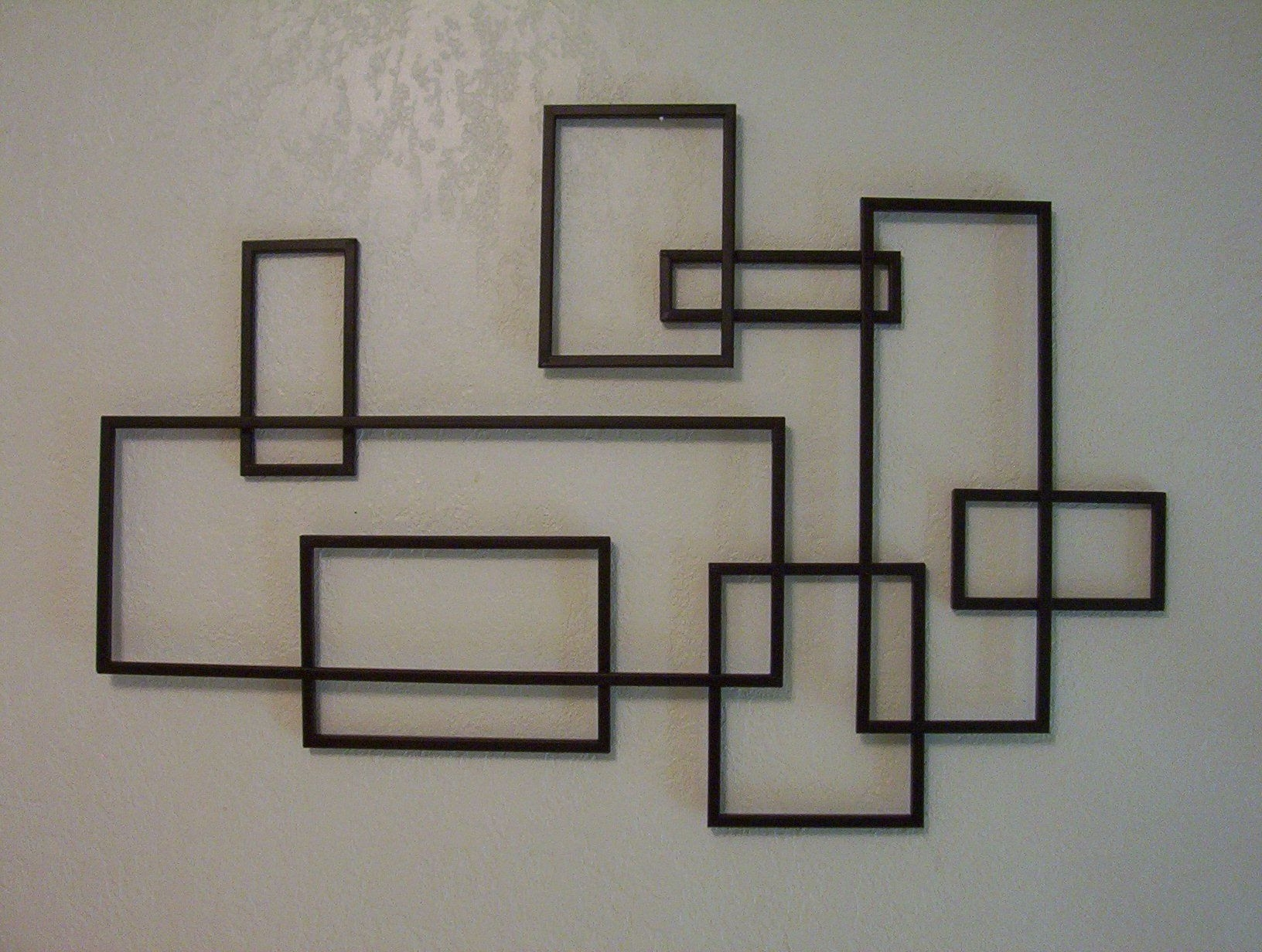 Geometric Metal Wall Art With Most Current Mid Century Modern ~ De Stijl Style Geometric Metal Wall Sculpture (View 8 of 15)
