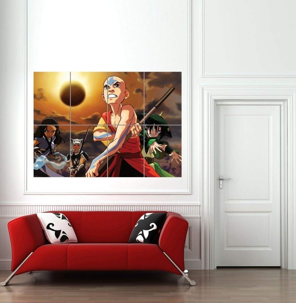 Giant Wall Art Pertaining To Fashionable Amazon: Avatar The Last Airbender Giant Wall Art Print Poster (View 3 of 15)