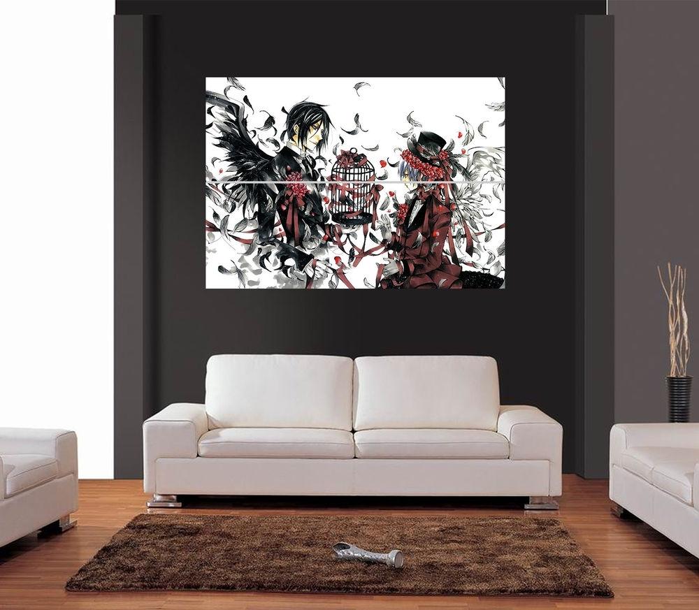 Giant Wall Art regarding Most Recently Released Kuroshitsuji Black Butler Anime Ref 03 Giant Wall Art Print Picture