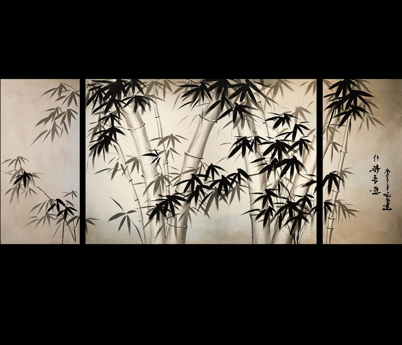 Giclee Artwork Canvas Art Fine Art Prints Wall Art Japanese Bamboo Inside Most Recently Released Japanese Wall Art (Gallery 10 of 15)