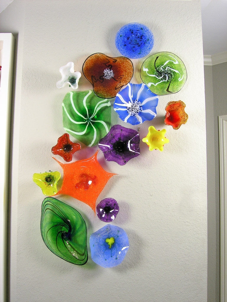 Glass Plate Wall Art Intended For Well Known Blown Glass Flower Wall Art Glass Art Pinterest Scheme Of Glass (View 4 of 15)
