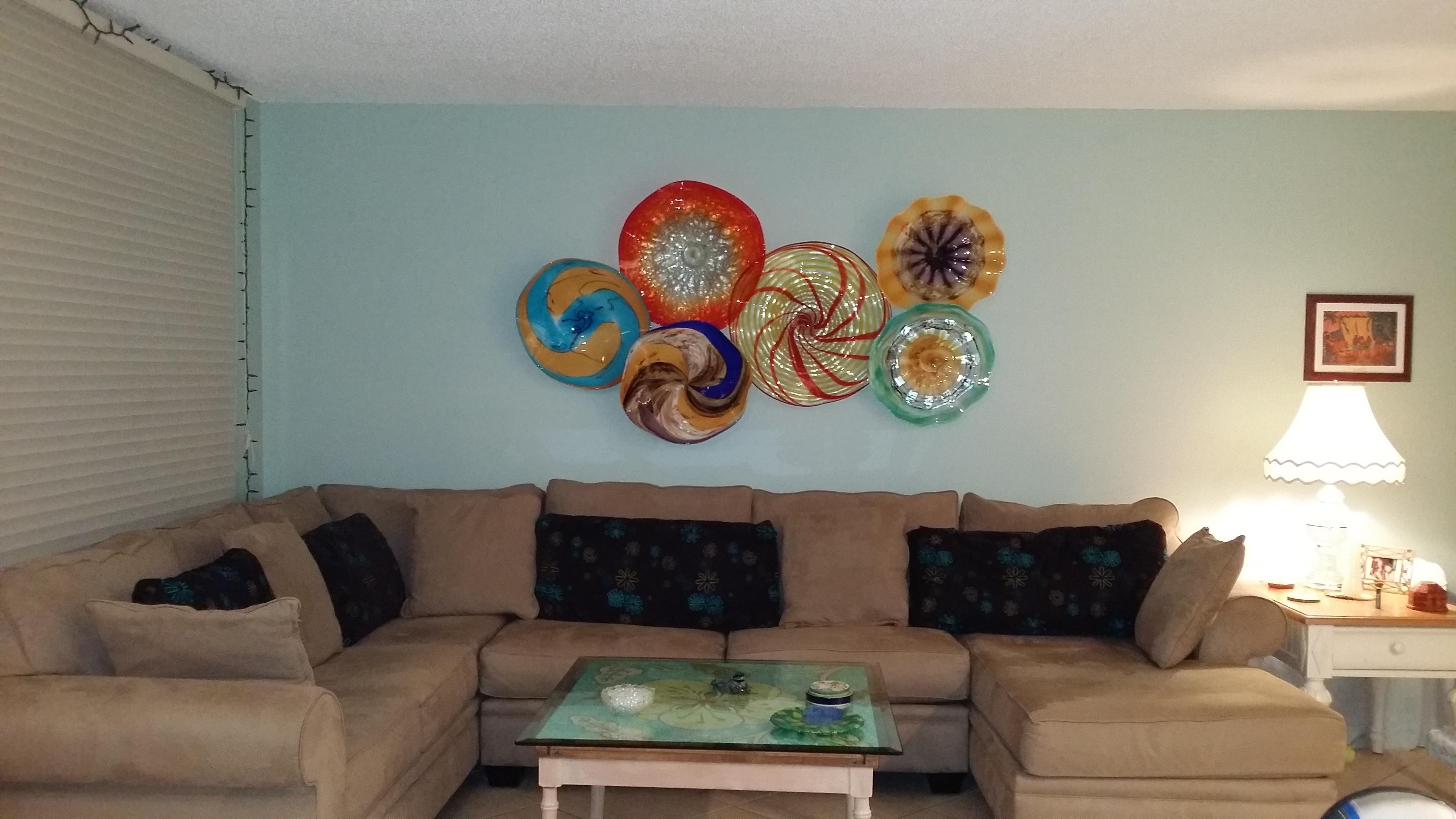 Glass Plate Wall Art regarding Popular Wall Decor Glass Plates - Jscollectionofficial