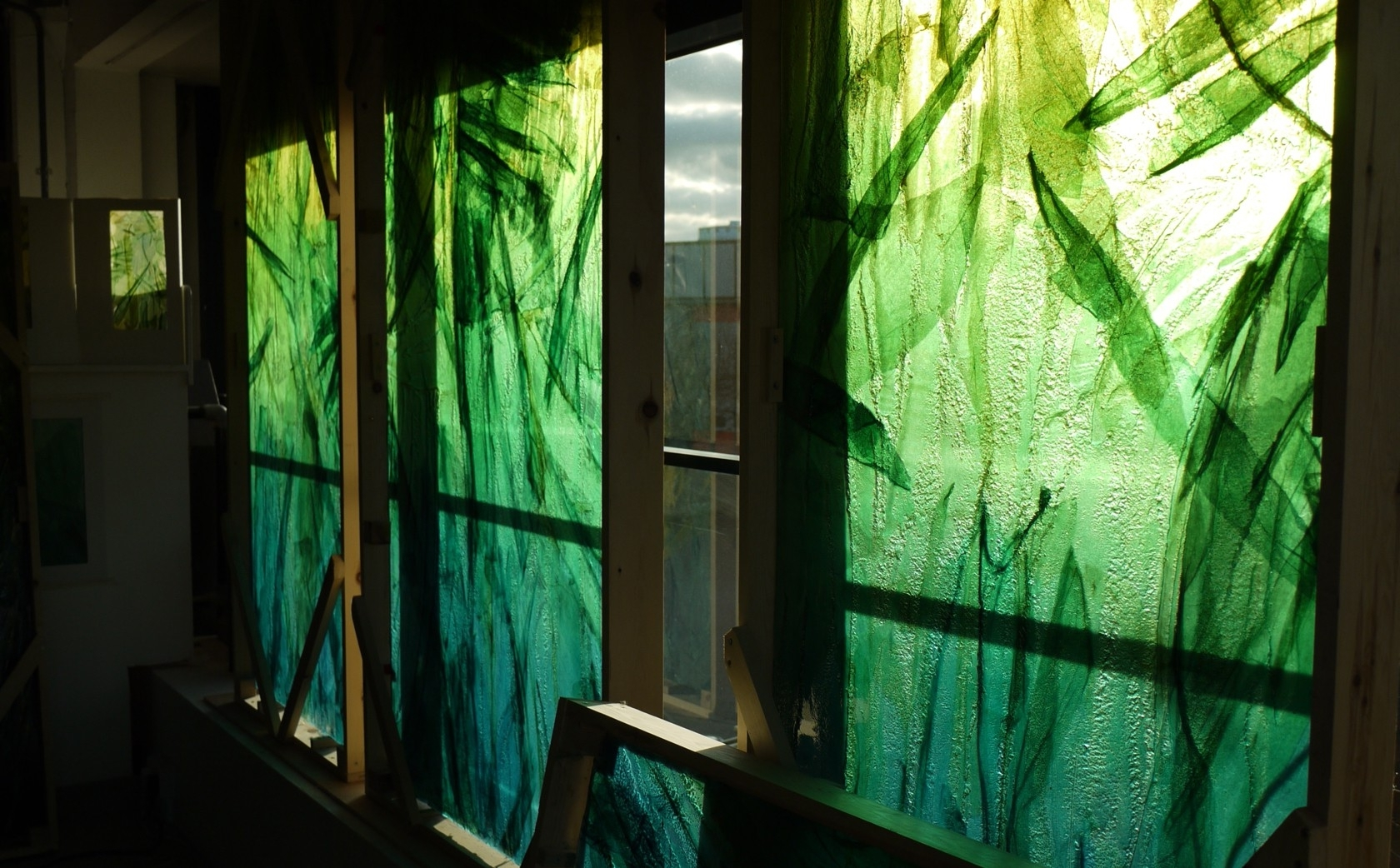 Glass Wall Art With Regard To Most Up To Date Slumped Glass Wall Art – Bradley+Basso Studio (View 12 of 15)