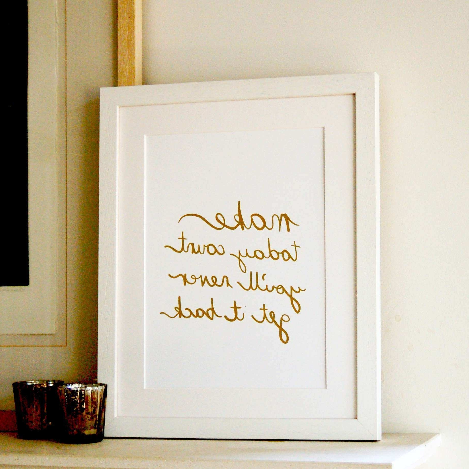 Gold And White Wall Decor New Gold Foil Wall Art (View 5 of 15)