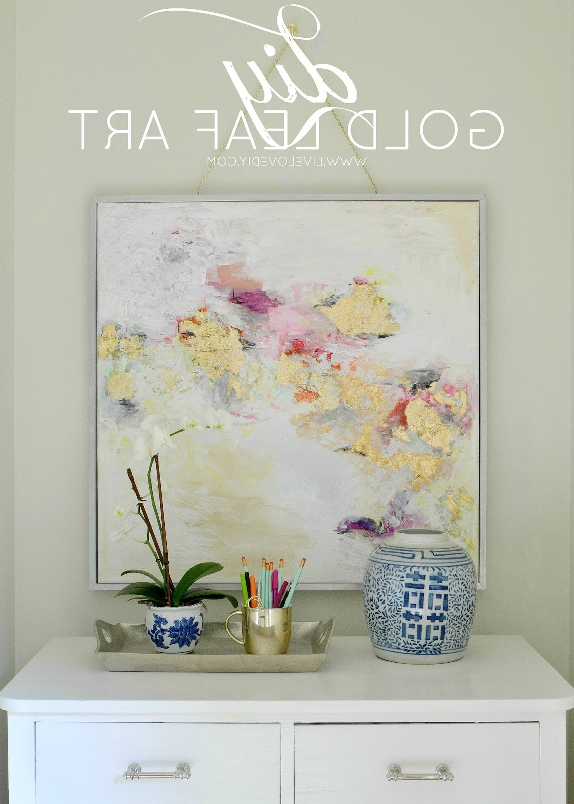 Gold Foil Wall Art Intended For Trendy Livelovediy: How To Make Gold Leaf Art (Round Two)! (View 11 of 15)