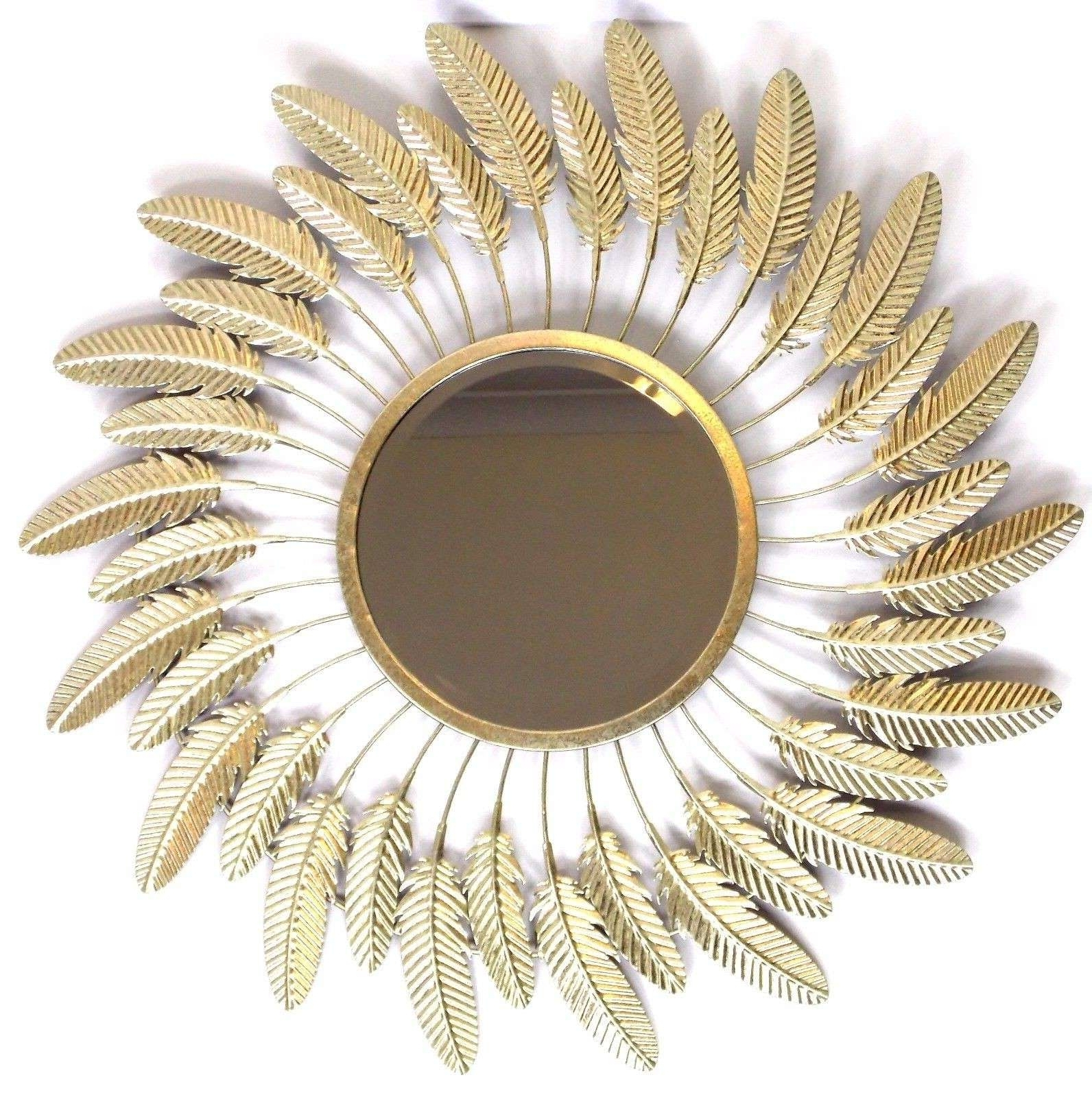 Gold Metal Wall Art In Well Known Gold Metal Wall Art Luxury Feather Metal Wall Art Mirror Gold (View 13 of 15)