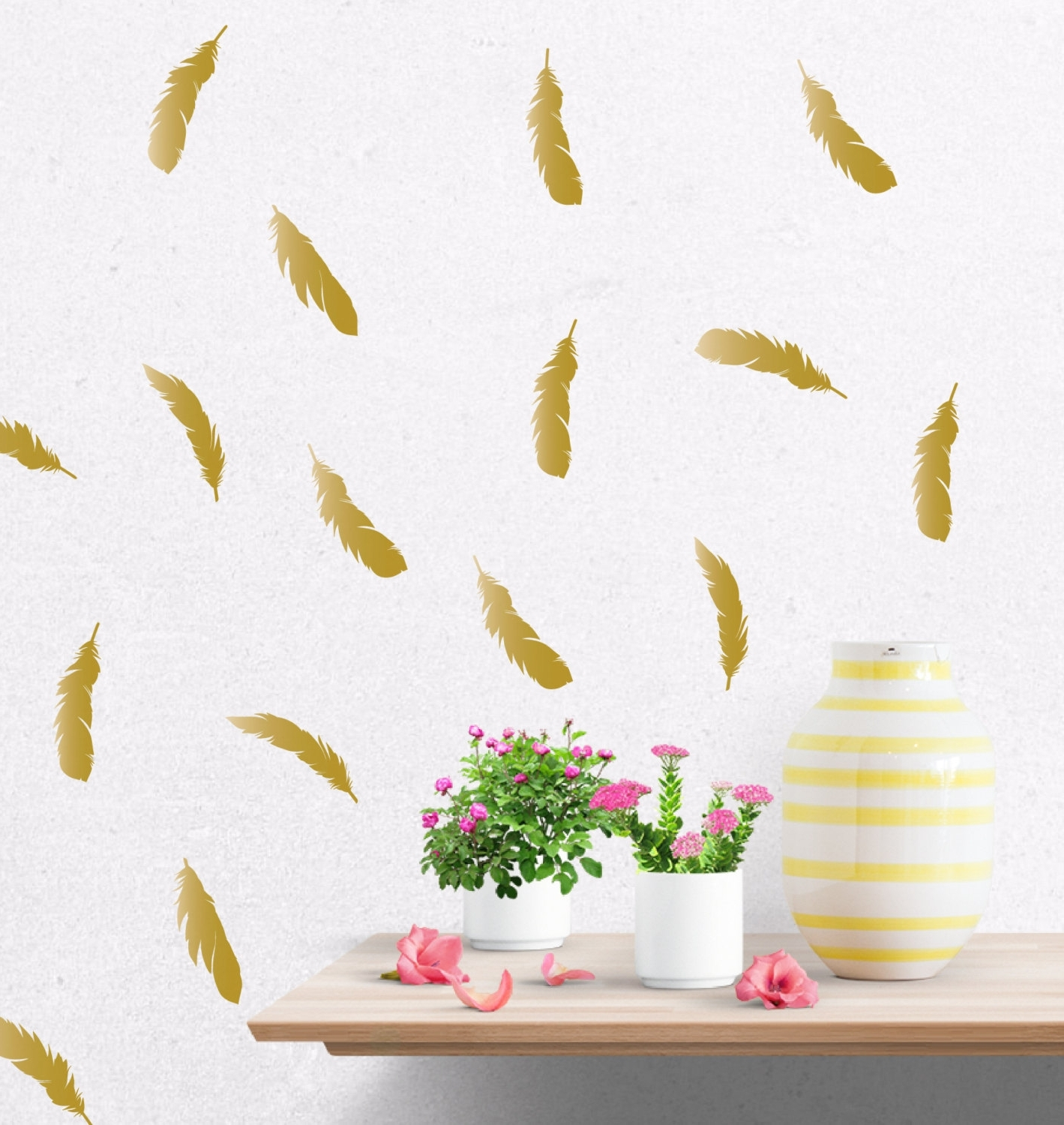 Gold Wall Art With Regard To Preferred Gold Wall Decals – Culturehoop (Gallery 11 of 15)