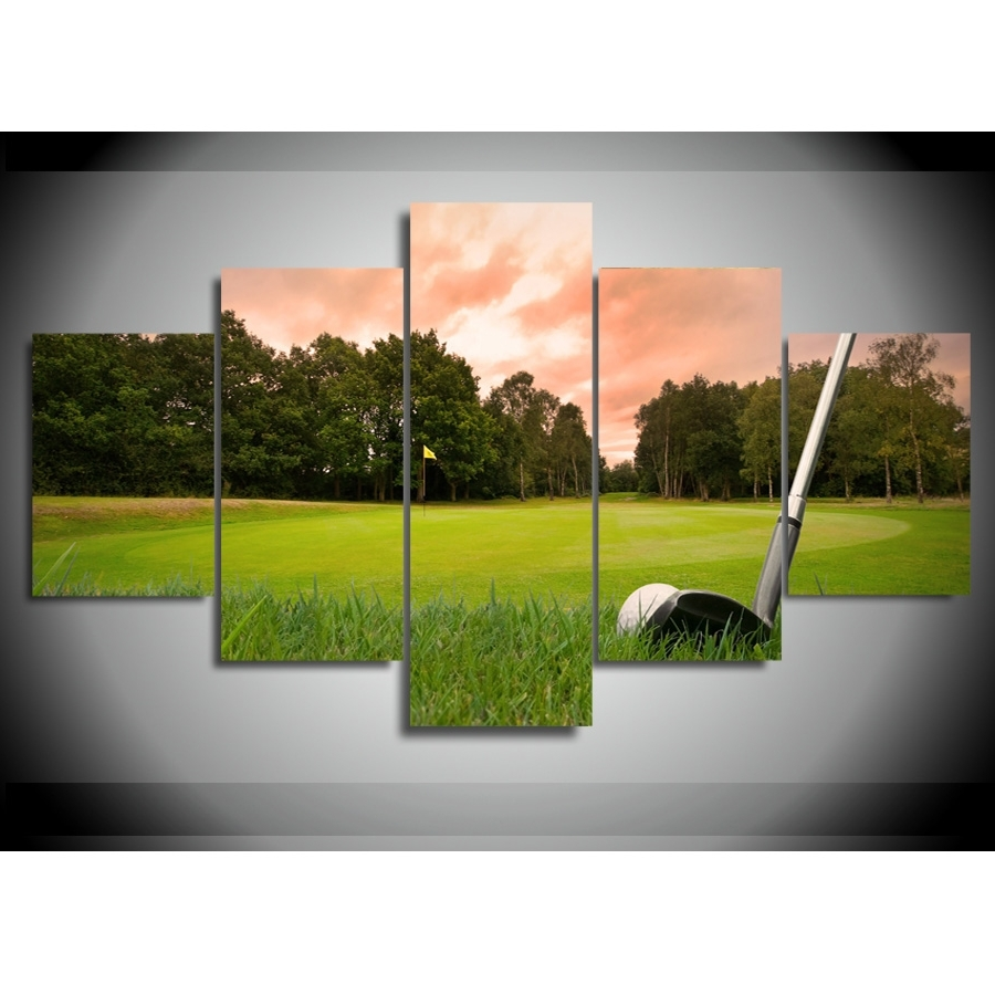 Golf Canvas Wall Art Inside Fashionable Golf Wall Art – Talentneeds – (Gallery 11 of 15)