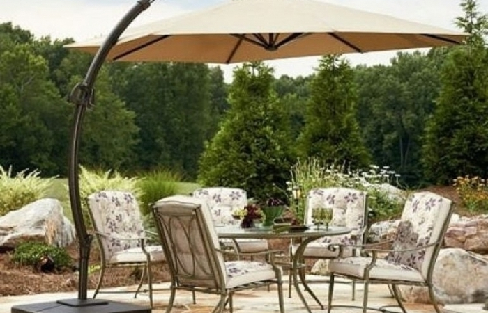 Good Sears Patio Umbrella For Outdoor Furniture Cushions Umbrellas With Widely Used Sears Patio Umbrellas (View 2 of 15)