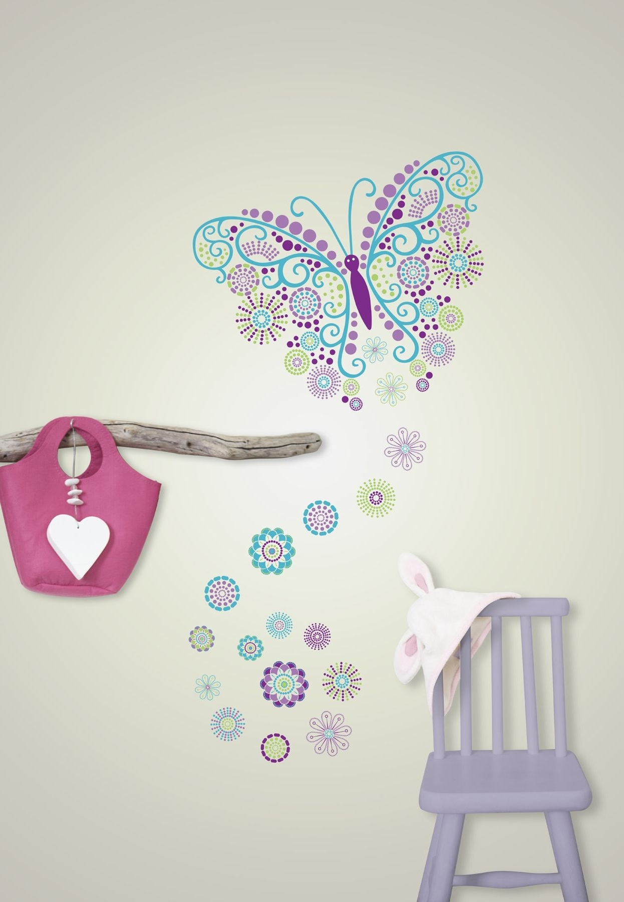 Gorgeous Butterfly Wall Art Sticker Kit In Widely Used Butterfly Wall Art (View 10 of 15)