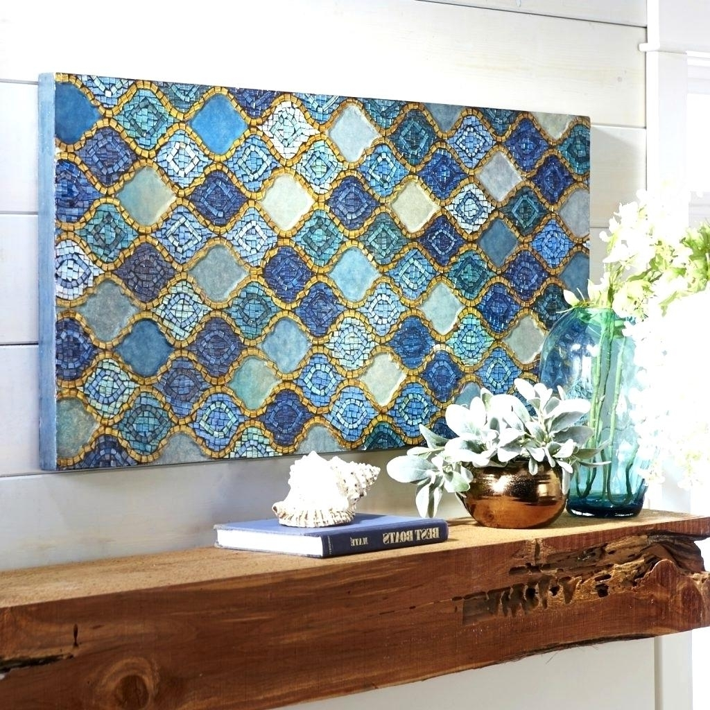 Gorgeous Splendid Metal Wall Decor Mosaic L Art Mosaic Art With Widely Used Mirror Mosaic Wall Art (View 15 of 15)