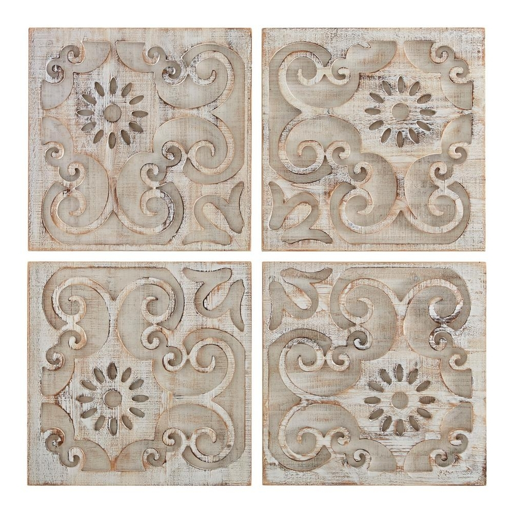 "Graham & Brown 26 In. X 26 In. ""moroccan Light Set Of 4 Laser Cut Throughout Most Current Moroccan Wall Art (Gallery 2 of 15)"
