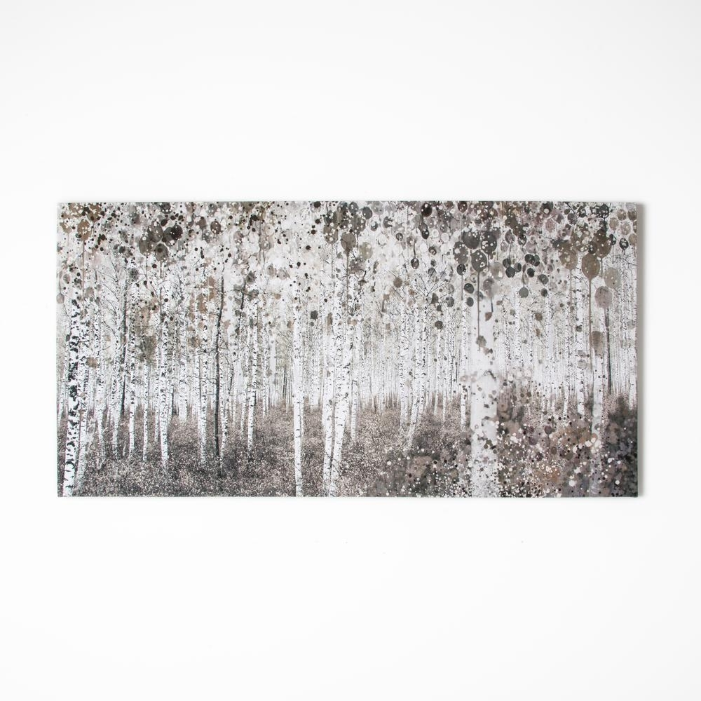 "Graham & Brown 47 In. X 24 In. ""neutral Watercolor Wood""graham Intended For Best And Newest Gray Canvas Wall Art (Gallery 7 of 15)"
