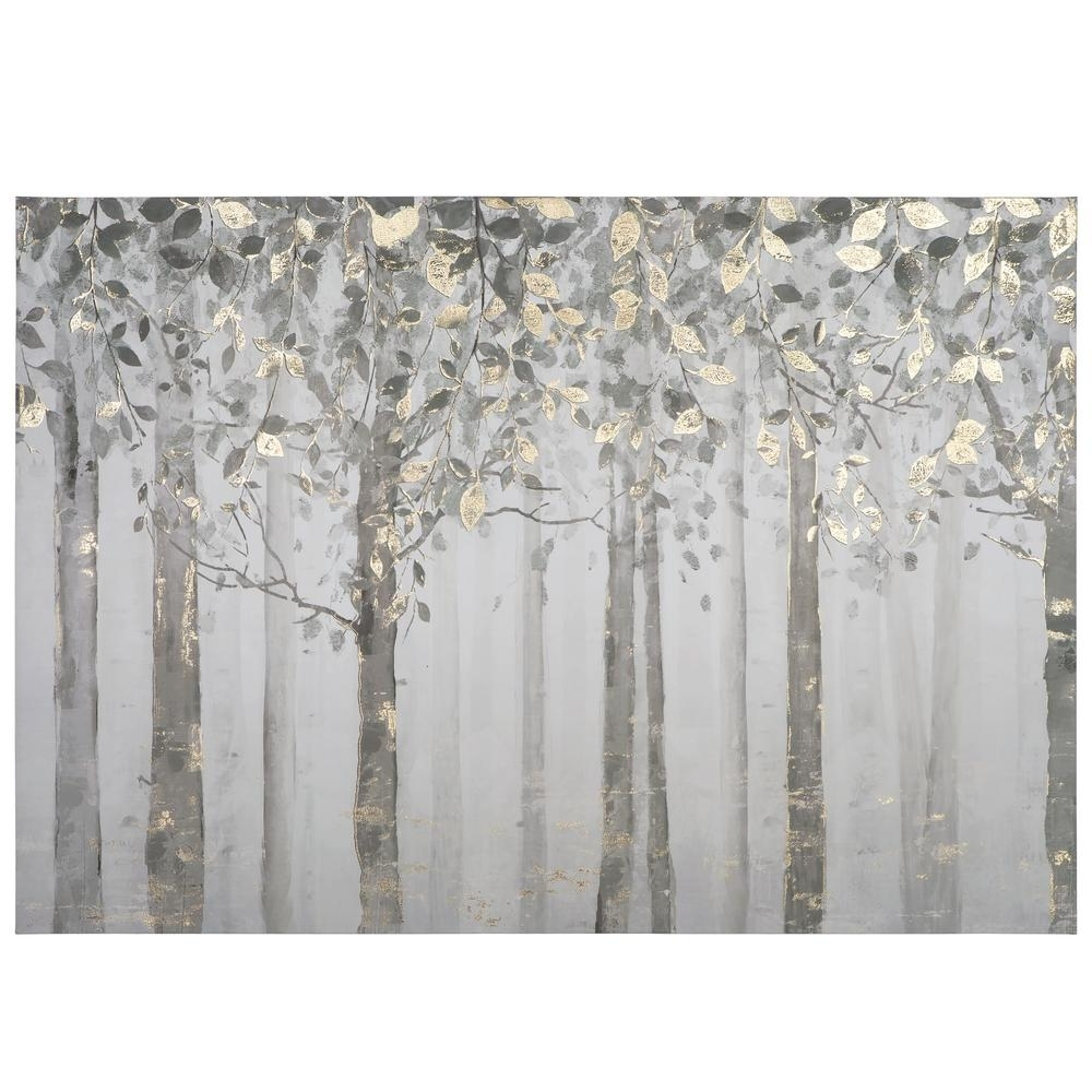 "Gray Canvas Wall Art Inside Newest Yosemite Home Decor 28 In. X 40 In. ""grey And Yellow Trees"" Printed (Gallery 13 of 15)"