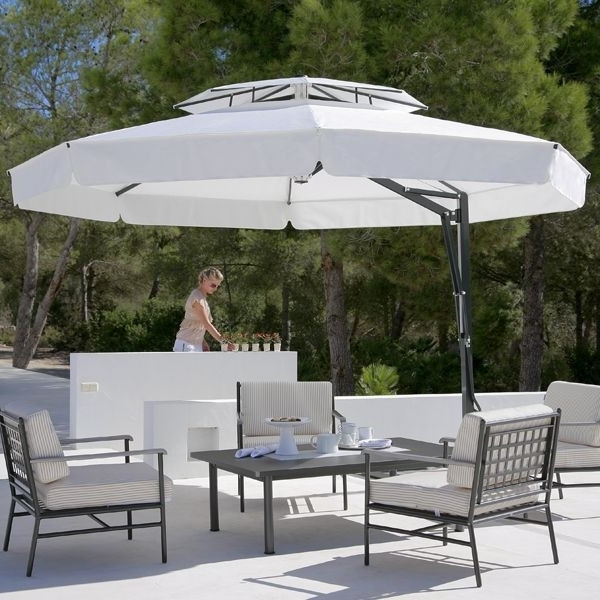 Great Black And White Patio Umbrella Outdoor Umbrella In Black And For Most Popular White Patio Umbrellas (Gallery 10 of 15)