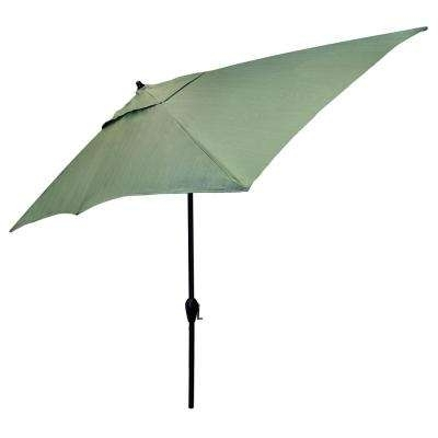 Green – Other – Patio Umbrellas – Patio Furniture – The Home Depot Within Well Known Green Patio Umbrellas (View 15 of 15)