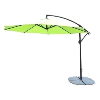 Green Patio Umbrellas Intended For Well Known 10 Foot Patio Umbrella Ft Cantilever Patio Umbrella In Lime Green (View 14 of 15)