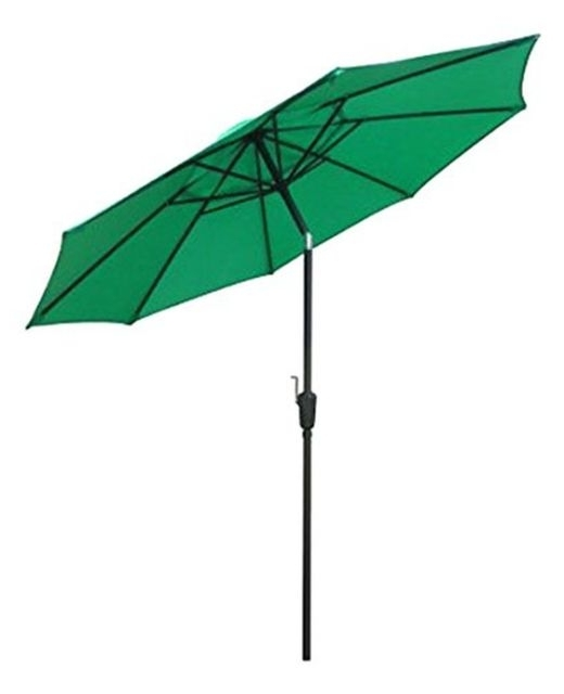 Green Patio Umbrellas With Well Known March Fs Steel Umbrella 9Ft Green Patio Umbrellas (View 13 of 15)