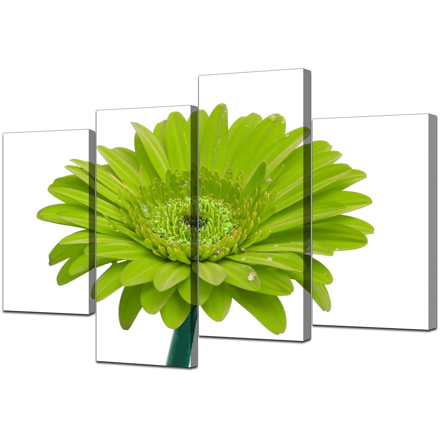 Green Wall Art Regarding Recent Canvas Wall Art Of Flower In Lime Green For Your Living Room (Gallery 9 of 15)