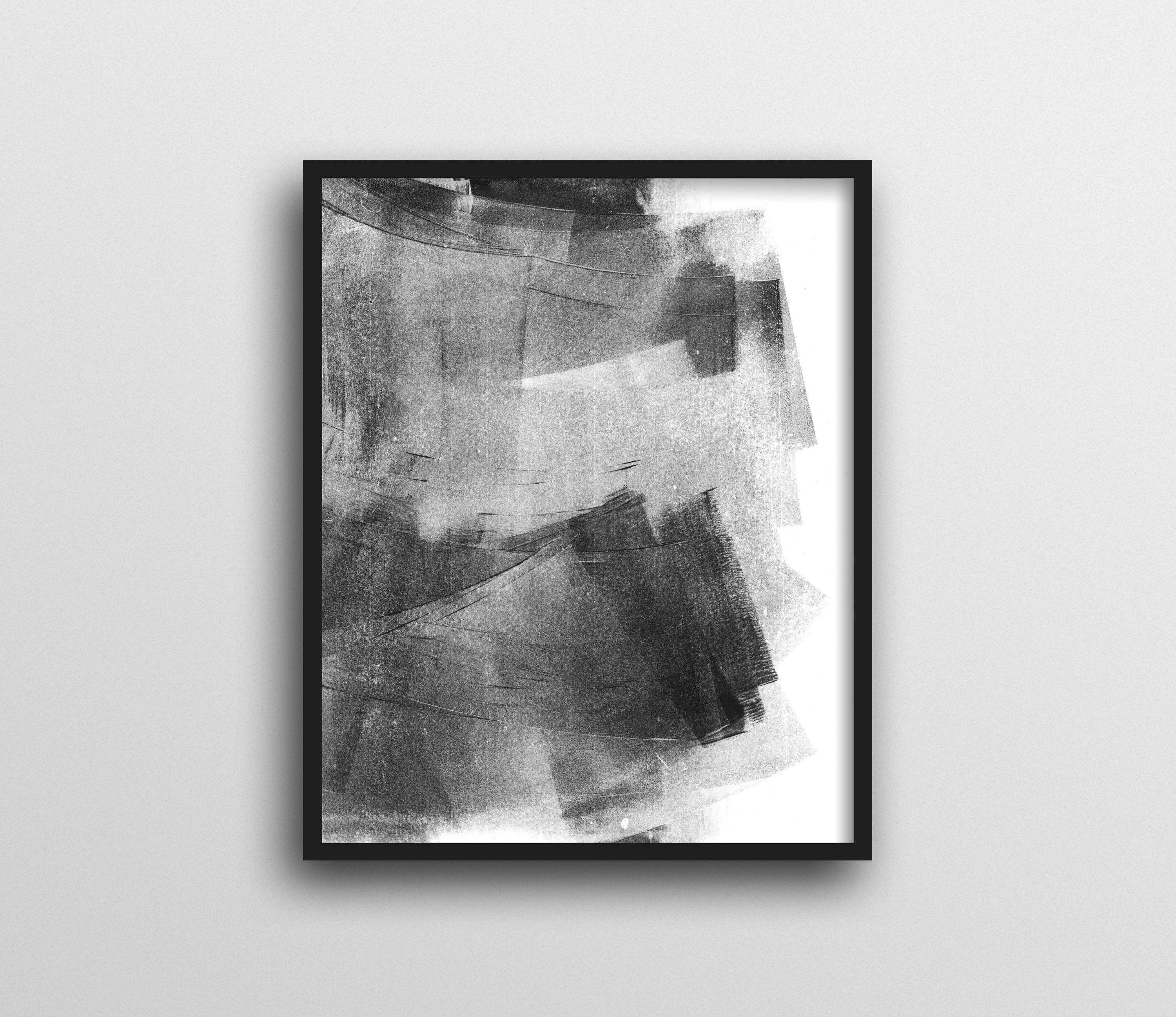 Grey And White Wall Art In Most Current Abstract Art, Black And White Wall Art, Minimalist Painting, Black (Gallery 10 of 15)