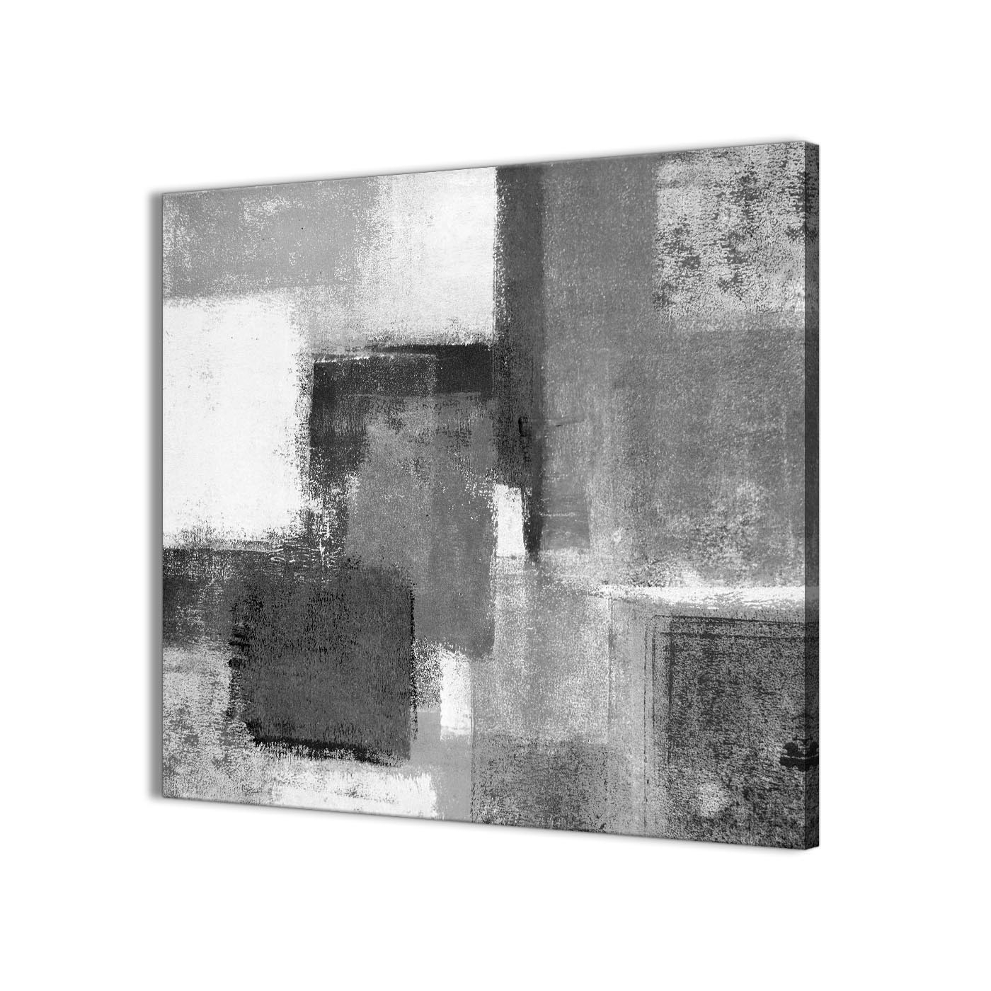 Grey Wall Art Inside Famous Black White Grey Abstract Office Canvas Wall Art Decorations 1S368L (Gallery 1 of 15)