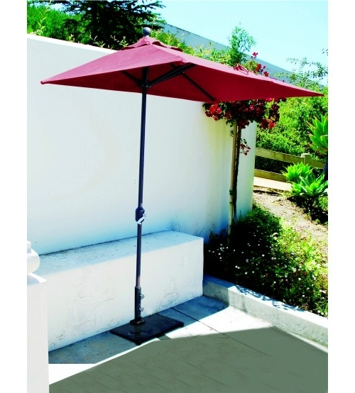 Half Patio Umbrellas Regarding Most Popular Innovative Half Patio Umbrella Half Wall Commercial Patio Umbrella (View 4 of 15)
