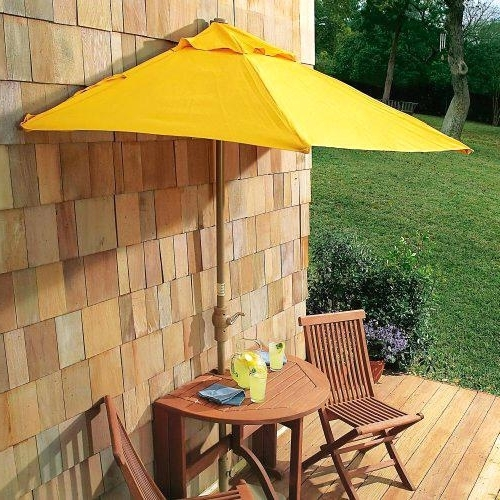 Half Patio Umbrellas Throughout Most Popular Awesome Patio Half Umbrella For Patio Ideas Half Umbrella Patio Half (View 6 of 15)