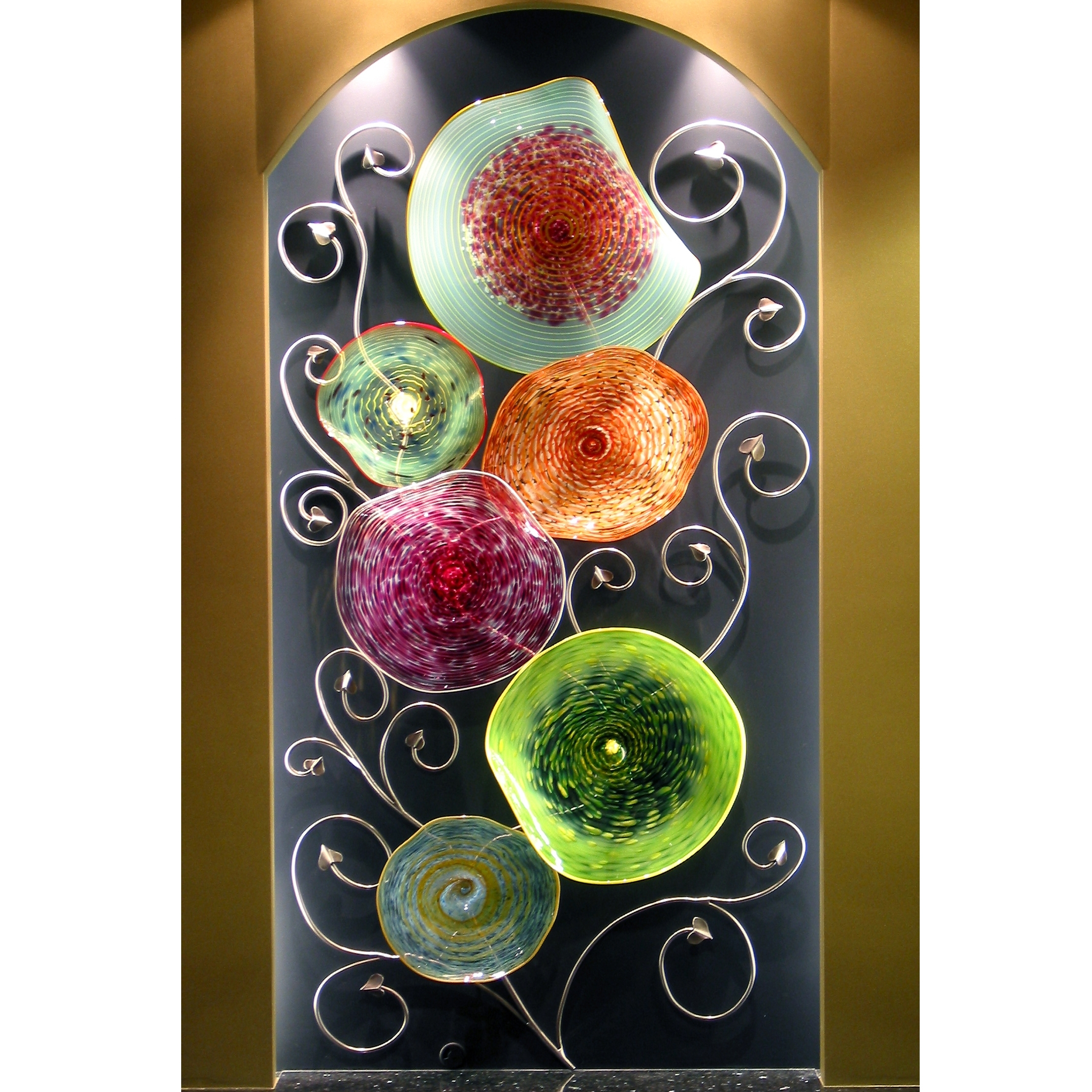 Hand Blown Glass Wall Art Sculpture