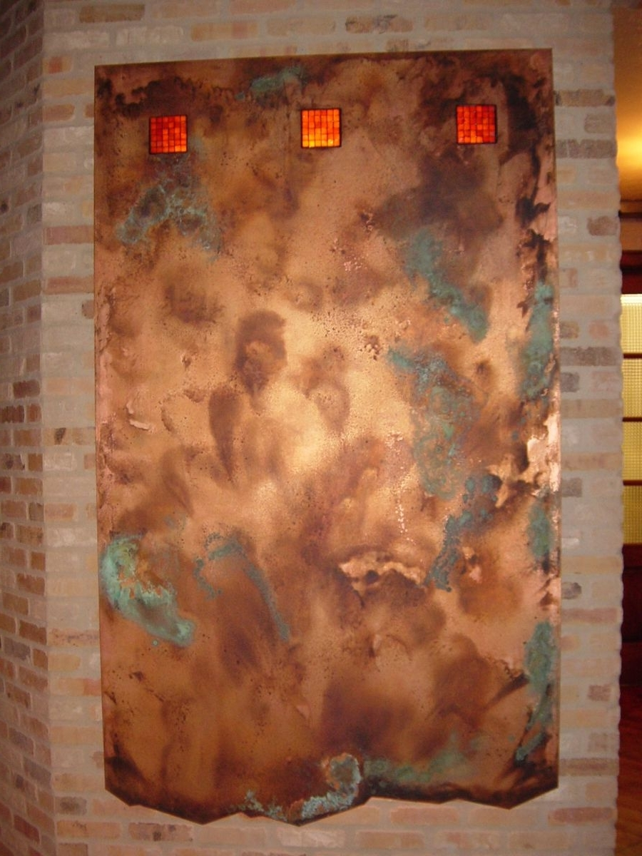 Handmade Copper Wall Artworkck Valenti Designs, Inc Inside Popular Copper Wall Art (View 15 of 15)