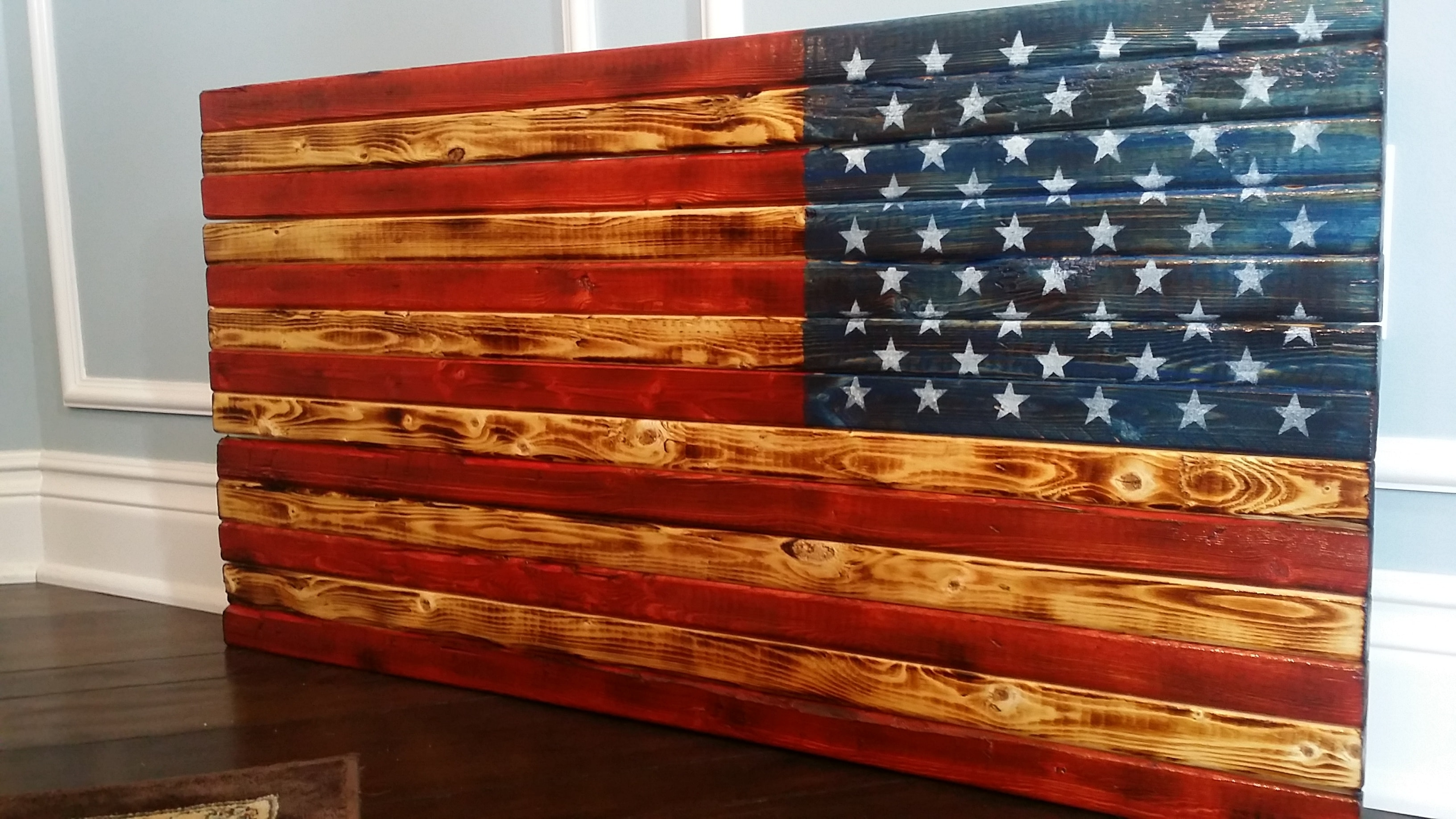 Handmade In Usa, Vintage, Rustic And Distressed Wooden U.s. American Throughout Most Popular Rustic American Flag Wall Art (Gallery 3 of 15)