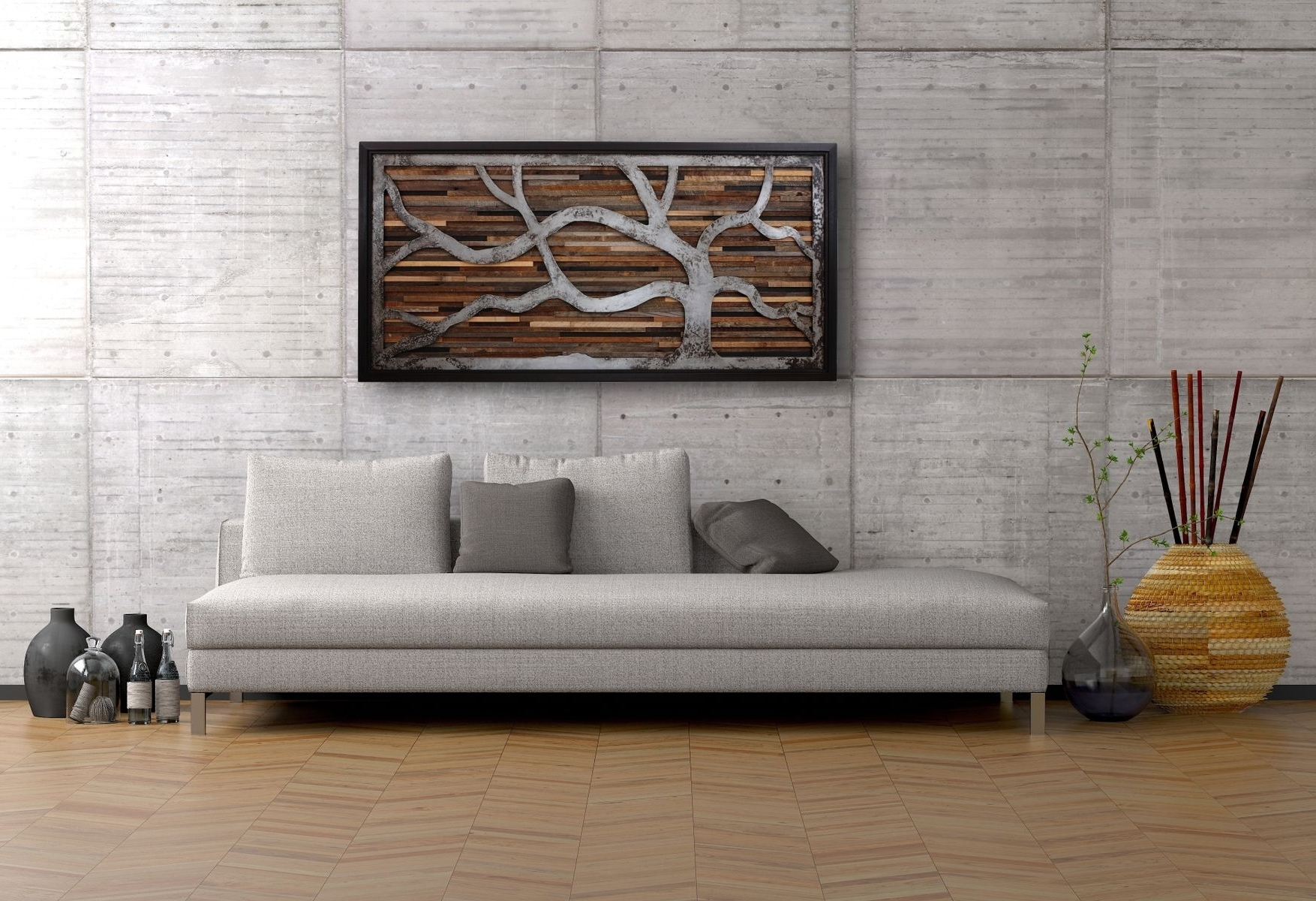 Handmade Reclaimed Wood Wall Art Made Of Old Barnwood And Rustic With Regard To Most Popular Wood Art Wall (View 8 of 15)